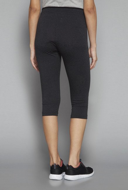 Westsport by Westside Charcoal Printed Capri