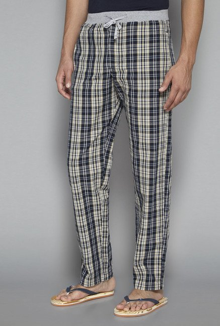 Bodybasics by Westside Navy & Beige Checks Pyjama