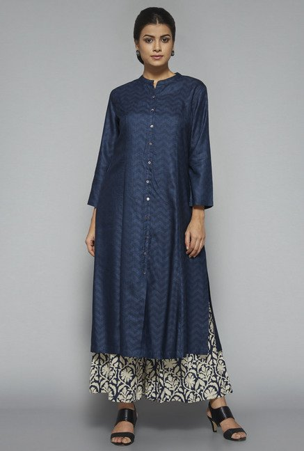 Zuba by Westside Navy Printed Kurta