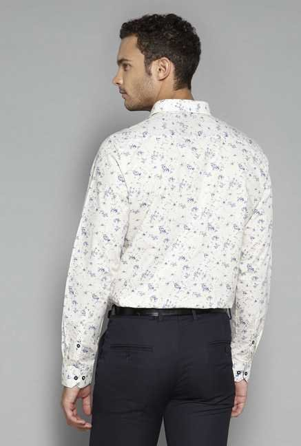 Weststreet by Westside Off White Printed Shirt