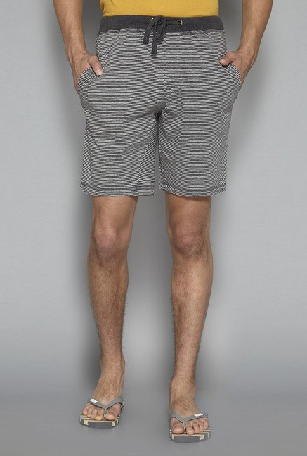 Bodybasics by Westside Grey Striped Shorts