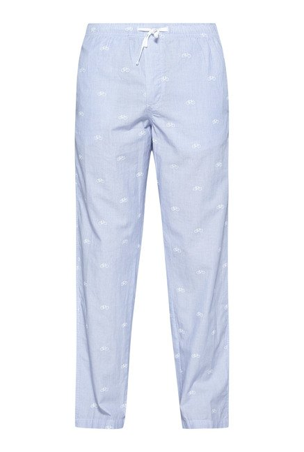 Bodybasics by Westside Sky Blue Printed Pyjama