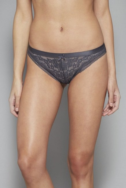 Wunderlove by Westside Grey Lace Sally Briefs
