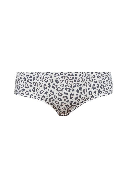 Wunderlove by Westside White Animal Print Sam Hipster Briefs