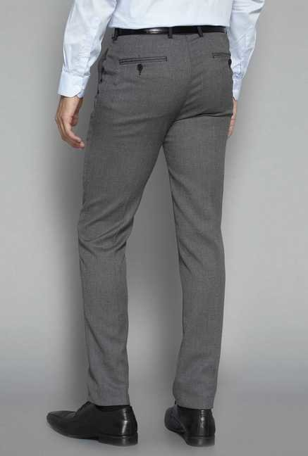 Weststreet by Westside Grey Solid Trouser