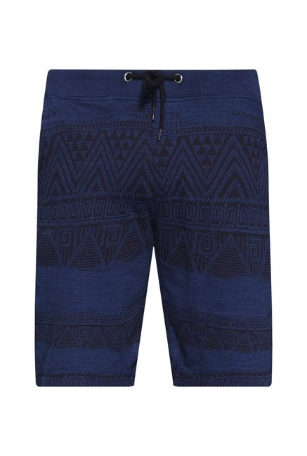 ETA by Westside Navy Aztec Print Shorts