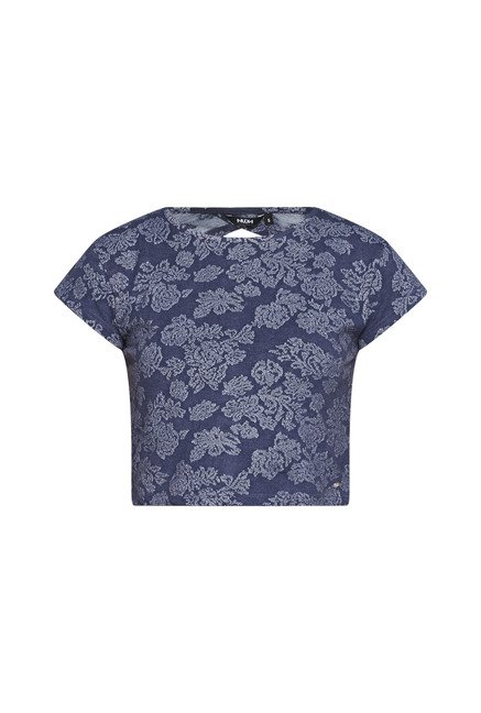 Nuon by Westside Navy Floral Print Top