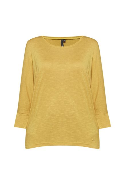 LOV by Westside Mustard Textured Top