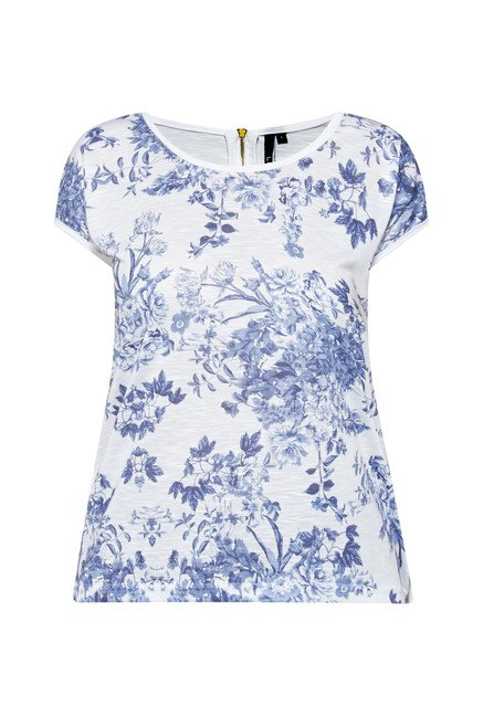 LOV by Westside White Floral Print Top