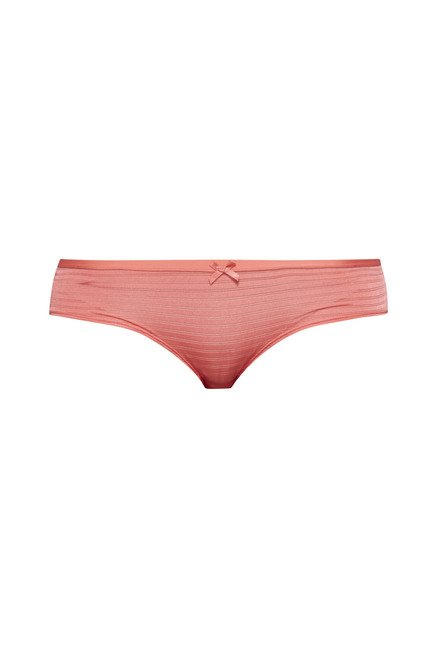 Wunderlove by Westside Coral Striped Amy Briefs