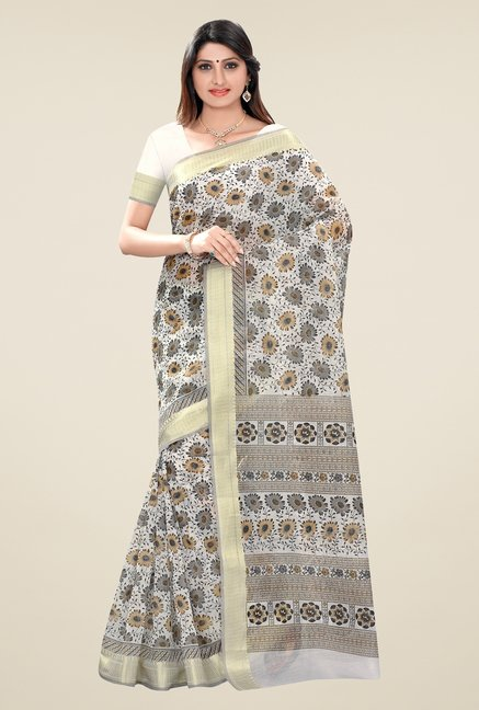 Triveni Multicolor Printed Blended Cotton Saree