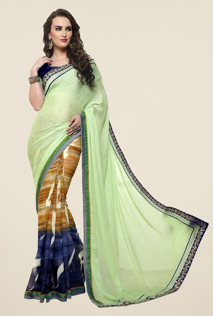 Triveni Multicolor Georgette Jacquard Saree