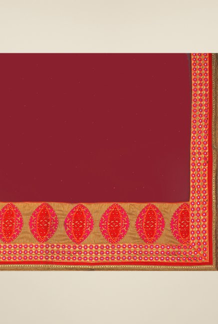 Triveni Multicolor Embroidered Dry Clean Saree