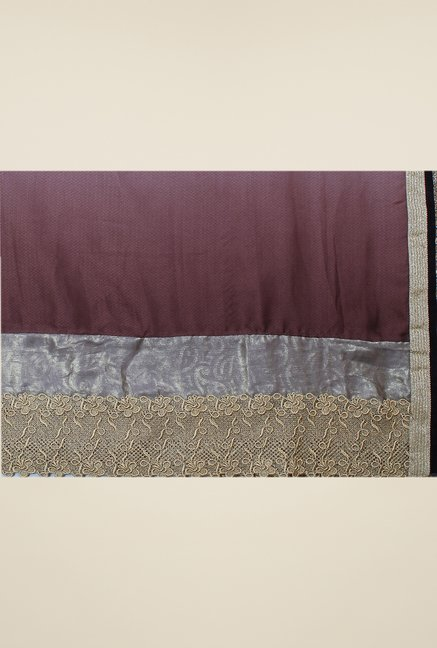 Triveni Multicolor Solid Faux Georgette Dry Clean Saree