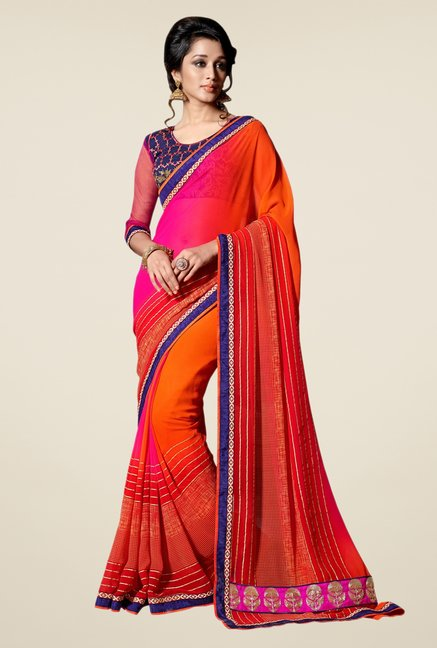 Triveni Multicolor Printed Saree