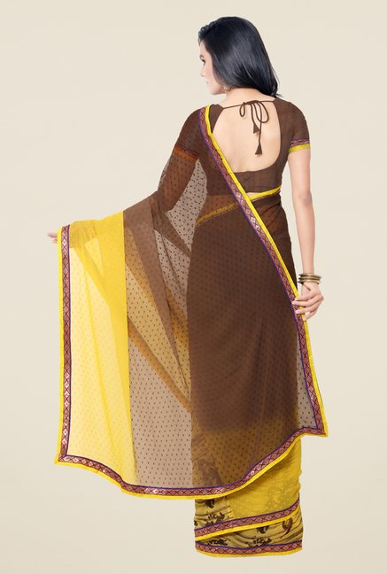 Triveni Multicolor Printed Georgette Viscose Saree