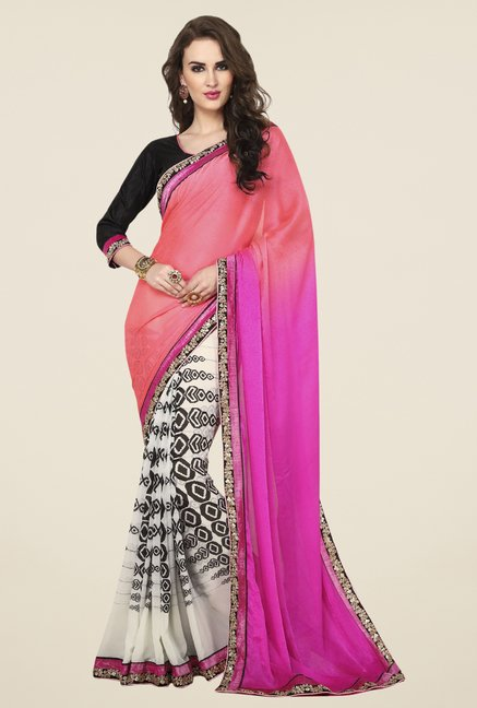 Triveni Multicolor Georgette Jacquard Dry Clean Saree