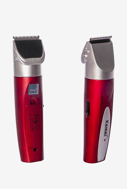 Kemei KM-6912 Clipper Trimmer for Men (Red & Silver)