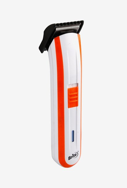 Brite BHT-590 Hair Trimmer for Men (Orange & White)