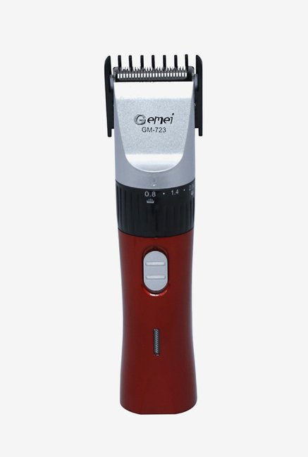 Gemei GM 723 Rechargeable Trimmer for Men (Red/Silver)
