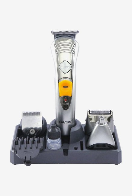 Gemei GM-580 Rechargeable Trimmer for Men (Silver)