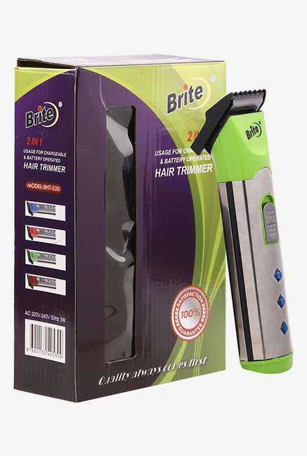 Brite BHT-530/00 Trimmer for Men (Green)