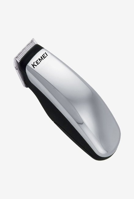 Kemei KM-9612 2 in 1 Trimmer for Men (Silver & Black)