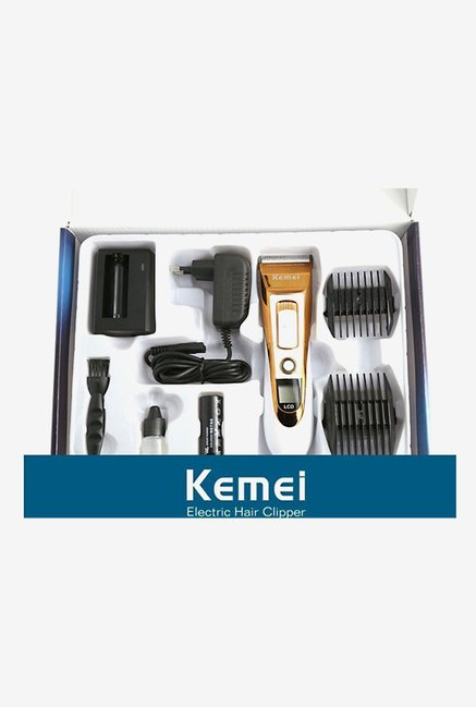Kemei KM-3920 Clipper Trimmer for Men (Brown & White)