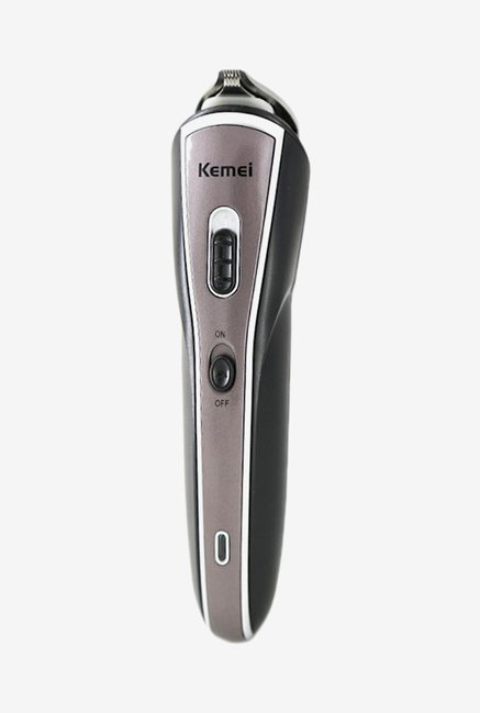 Kemei KM-570A Trimmer for Men (Black & Grey)