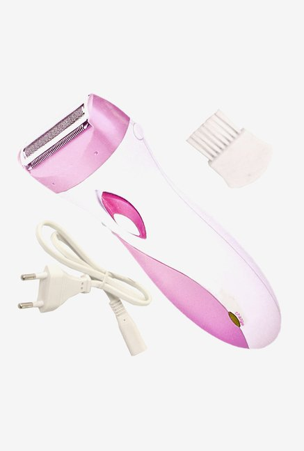 Kemei 3018 Rechargeable Shaver for Unisex (Pink)