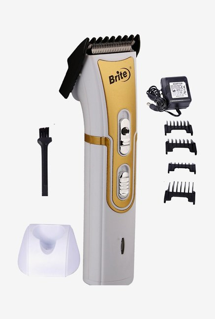 Brite BHT 609 Trimmer with Charging Dock for Men (White)