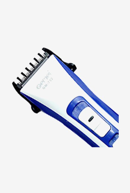 Gemei GM-732-CS Trimmer for Men (White & Blue)