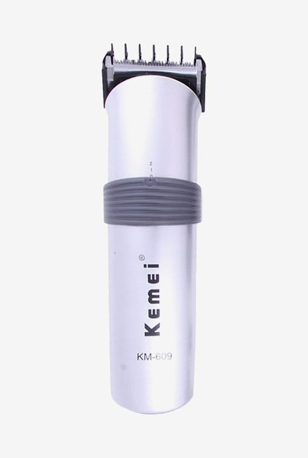 Kemei KM 609 Trimmer for Men (White & Black)