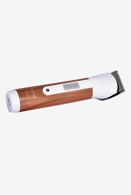 Kemei KM Brown Trimmer for Men (White)
