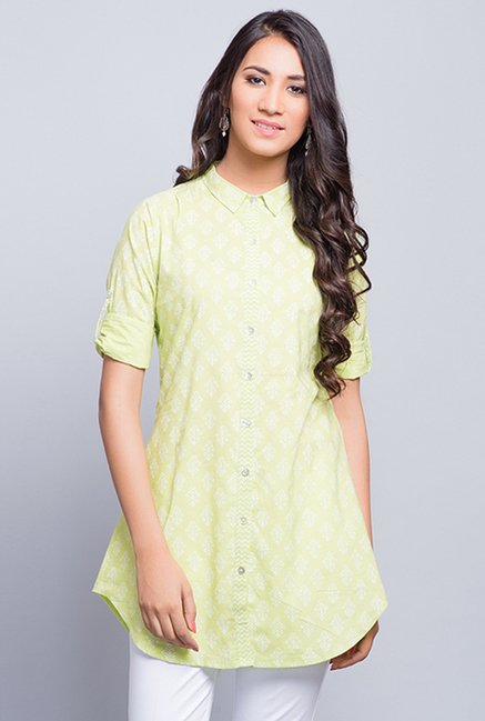 Fabindia Green Block Print Tunic