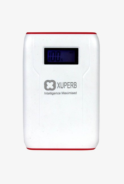 Xuperb XU-Style-110 11000 mAh Power Bank (White & Red)