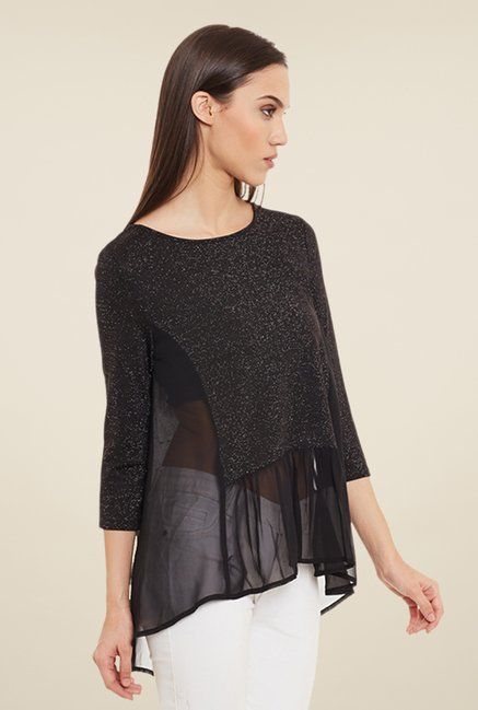 Femella Black Solid Top