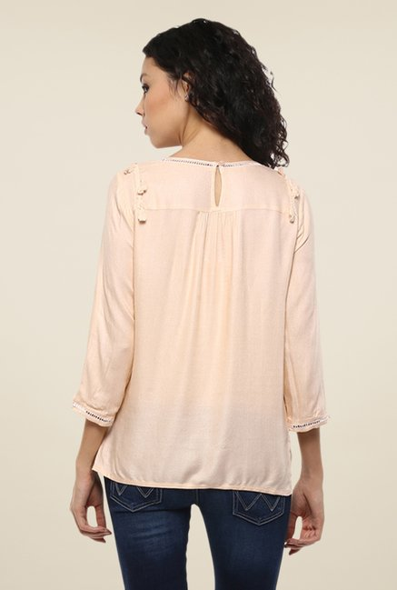 Femella Peach Solid Top