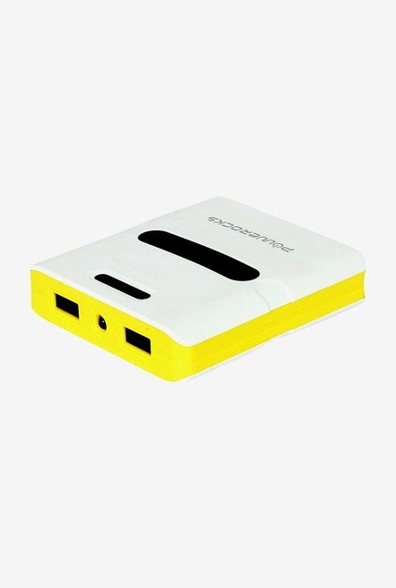 Powerocks Trump 100 10000mAh Power Bank (White & Yellow)