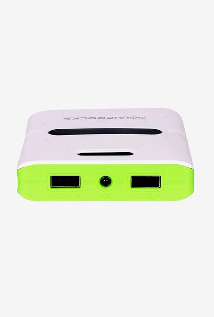 Powerocks Trump 100 10000mAh Power Bank (White & Green)