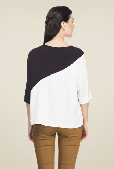 Femella Black & White Solid Top
