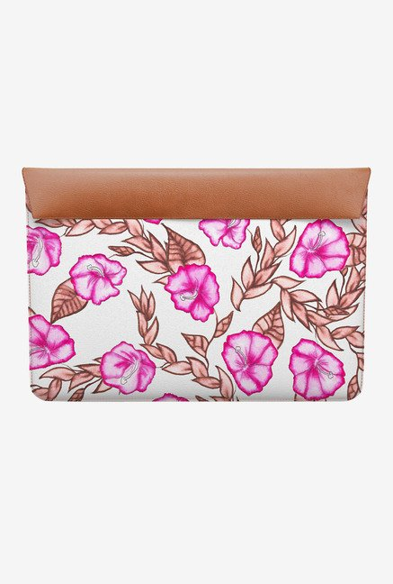 DailyObjects Pink Floral MacBook 12 Envelope Sleeve