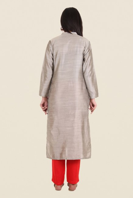 Shree Tan Silk Solid Kurta