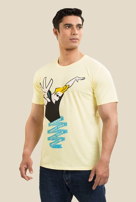 Johnny Bravo Desert Storm Yellow Graphic T-shirt
