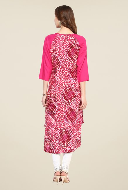 Shree Pink Rayon Printed Kurta