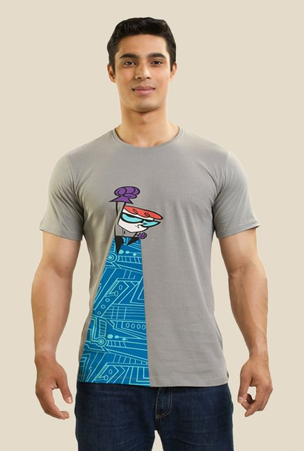 Dexter The Superhero Grey Graphic T-shirt