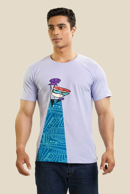 Dexter The Superhero Purple Graphic T-shirt