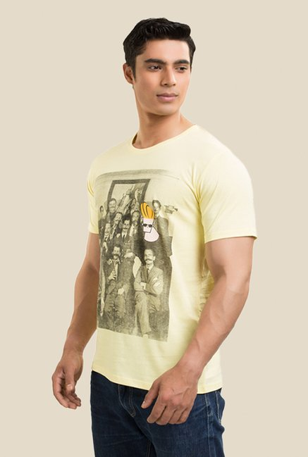 Johnny Bravo & Gang Yellow Graphic T-shirt