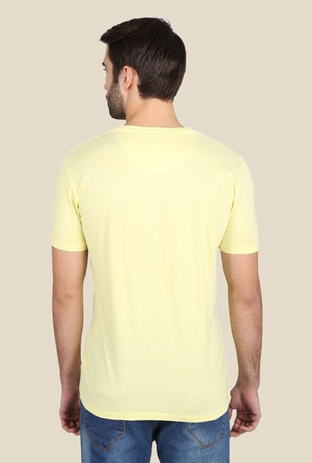 Dexter You Push My Buttons Yellow Graphic T-shirt