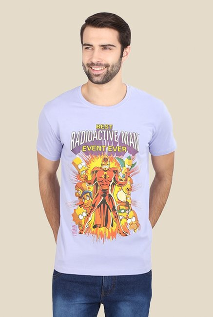 Simpsons Radioactive Man Purple Graphic T-shirt